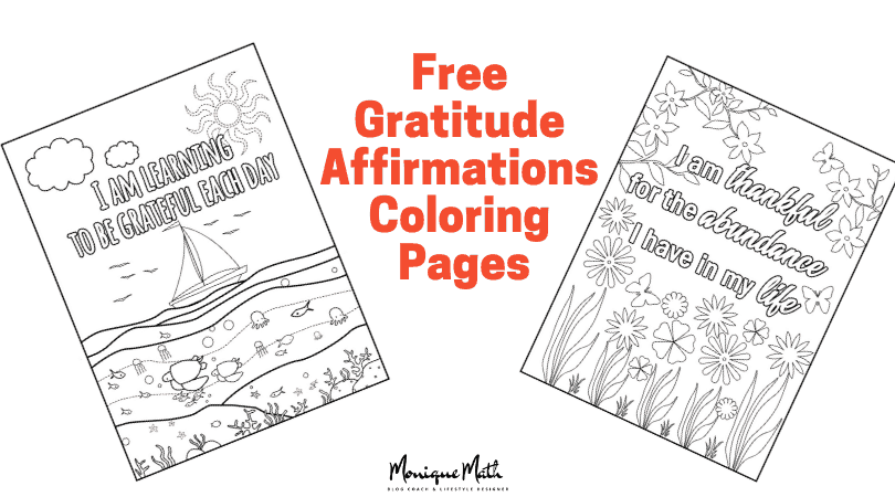 Free Adult Coloring Pages with Powerful Gratitude Affirmations for Success